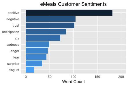 eMeals Customer Sentiments