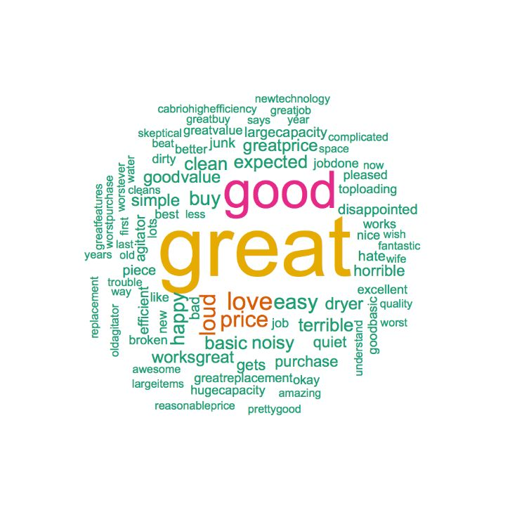 Whirlpool WTW5000DW Positive Word Cloud