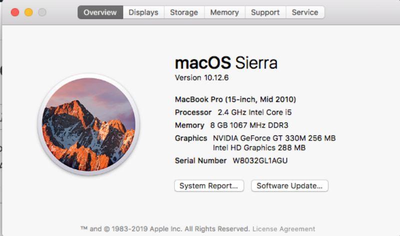 This Mac OS version is Sierra
