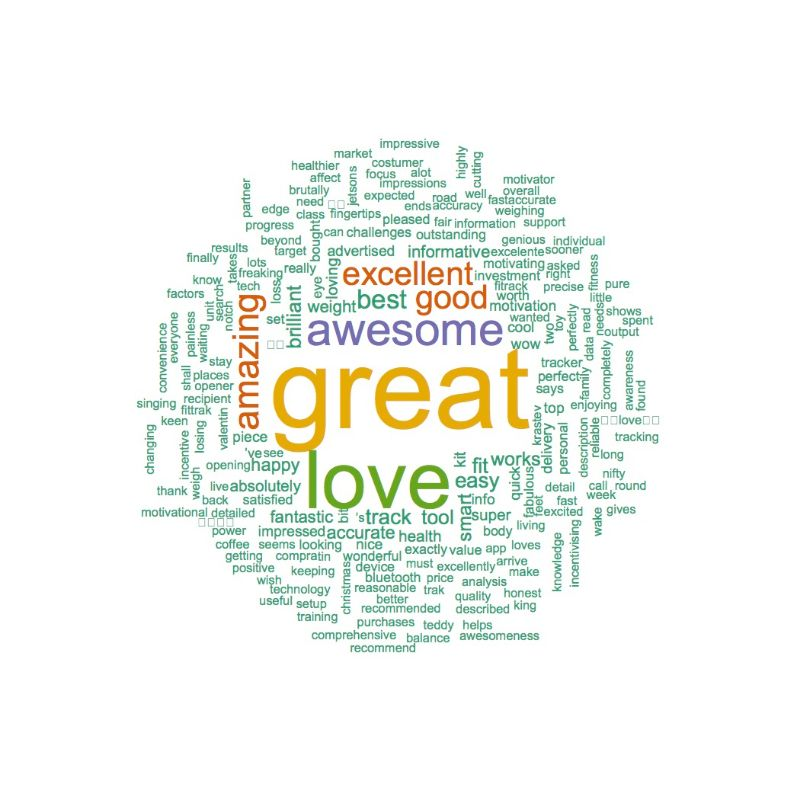 FitTrack Positive Word Cloud
