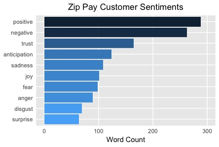 Positive Zip Pay Customer Sentiments