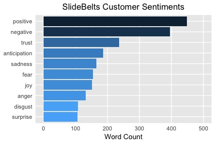 Positive SlideBelts Customer Sentiments