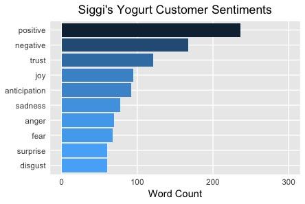Siggi's Positive Customer Sentiments